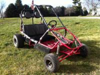 Dune-buggy style gokart, 2 seater with sholder bharnes