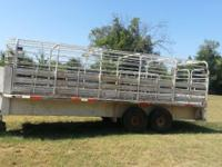 Dugan Trailer, 20 foot. Tires almost brand new. Located