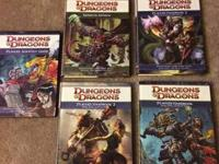 I have 5 D&D books for sale. All are is excellent