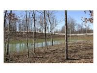 A large lot with rolling, partially wooded land with