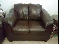 Ashley Furniture Durablend leather couch and loveseat.
