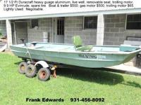 Excellent Fishing boat.  Duracraft 17.5 ft heavy