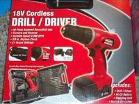 Duratest 18V Cordless Drill/Driver With 56-Piece
