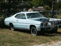 75 Duster, B1 blue with a blue interior, power