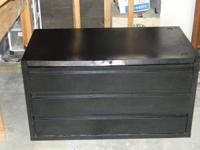 I HAVE A BLACK DVD/CD 3 DRAWER CABINET , THAT HOLDS
