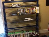 Commercial DVD CD Game rack. Holds loads on games!