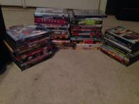 DVD collection of movies (comedy, romantic, action) and