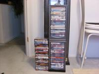 72 DVD's viewed only once each, all like brand-new. $5