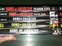 Sons of Anarchy seasons 1 2 3 4 5 $50. Pending pick up