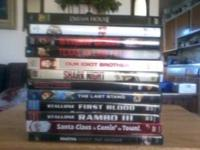 12 DVD's in excellent condition. New releases and old.