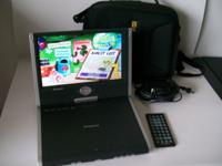 Polaroid PDM-1058 Portable DVD player. Includes