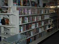 We have tons of DVD's and VHS to choose from. DVD's are