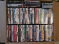 DVD'S AND VHS TAPES FOR SALE! WATCHED ONCE THRU...ALL