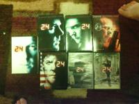TELEVISION series:.  24 seasons 1, 2, 3, 5, 6, 7, and 8