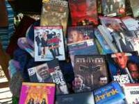 DVDs for sale 2.00 to 3.00 Text  Also, having a garage