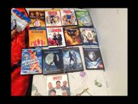 Random blue rays $3 each and random DVDs for sale $1