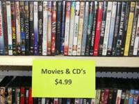 We have several DVD Movies for sale $4.99+ tax Some of