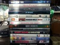 used and new dvds and a magnavox dvd player for sale.