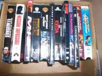 Various VHS $2 each and DVD $5 each James Bond movies-