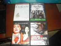 Four dvds, $10 for all four or $5 for each. Email me or