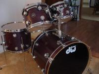 DW Lavender Satin 4 Piece Shell Pack all maple drums,