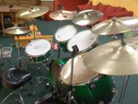 DW Drums. Top of the line. I checked on ebay and the