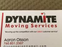 760-85one-2507. Dynamite Moving Services. We are right