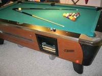 commercial 7ft pool table by dynamo/ valley. one inch
