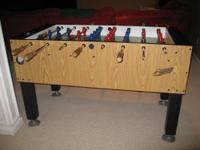 Dynamo Foosball Table...very nice condition. Dimensions