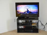 Dynex 32 inch Television & TV stand. - Dynex 32 inch