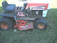 This is an old mower but runs good. Needs a battery, I