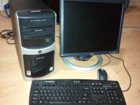 "E machine desktop with Dell 19"" lcd monitor. Simple and"