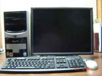 "E-machine P4 with 20"" LCD monitor. 3.0GHz 80 gig HD 768"