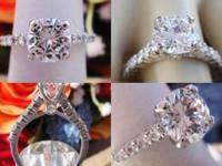 1.52CT Round Brilliant Diamond Engagement Ring E/VS1
