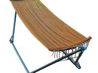 This portable hammock with custom carrying case can be
