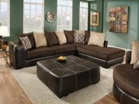 Encore 348 Sectional * Covered in genuine bonded
