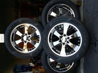 Like new, Eagle Alloy Chrome Wheels 20x8.5 with lug