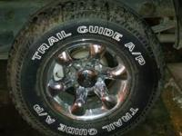 Got 4 eagle alloy rims and tires        4 good tires