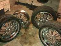 "Eagle alloy rims & three new tires. They are 18"" 5lug"