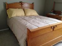 Double size Bed Frame and Head Board (mattress and box
