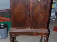 Old Antique Wood Cabinet This would make a great