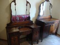 Early 1900's Bedroom Set 3 Pieces, good condition for
