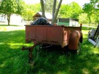early 50's International pickup bed trailer be great to