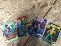 A variety of DC comic series issues ranging from Green