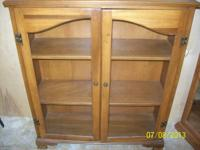 -Three shelf cabinet great for displaying collectibles