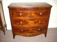 Early antique mahoganey two over two  drawer chest.