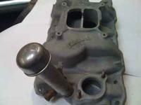 60's Chevy small block intake manifold 4 barrel with