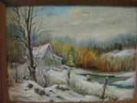 "ORIGINAL OIL PAINTING BY A. PETERSON ENTITLED ""EARLY"