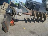 Skid Steer Attachment - Auger Bit Part Skid Steer