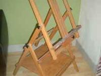 easel, paint brush, paint, canvasses, etc. (see pics)